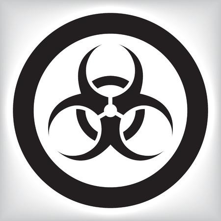 hazardous materials: Biohazard icon Illustration