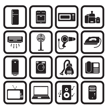 Home applience icons set