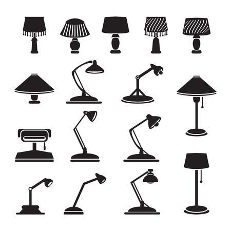 Vector lampen set Vector Illustratie
