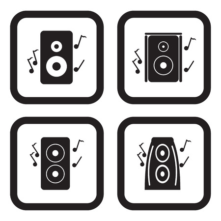 sub woofer: Speakers icon in four variations