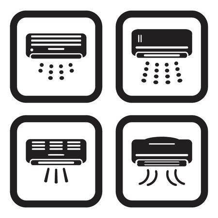 Airconditioner pictogram in vier variaties Stockfoto - 44686738