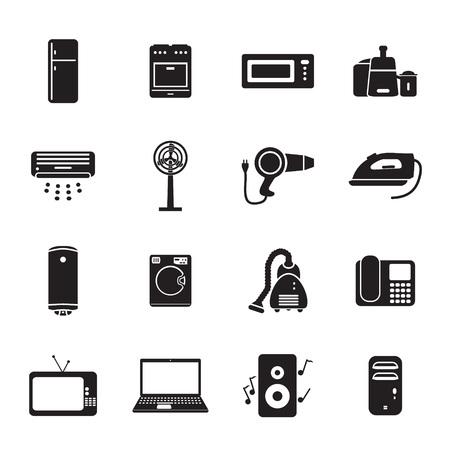 Home applience-pictogrammen instellen Stockfoto - 44686744