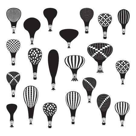 cheerfulness: Vector hot air balloons set
