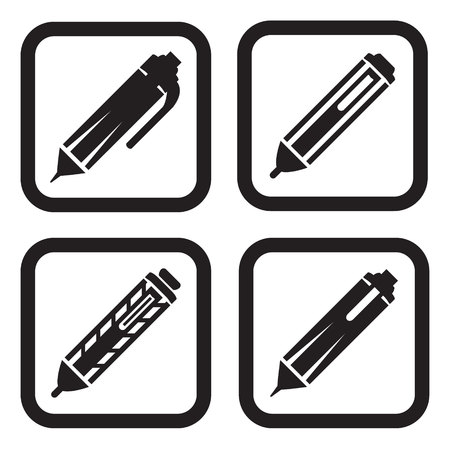 classic authors: Pen icon in four variations