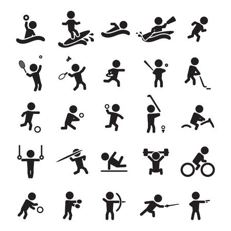 Set di icone dello sport Archivio Fotografico - 45261051