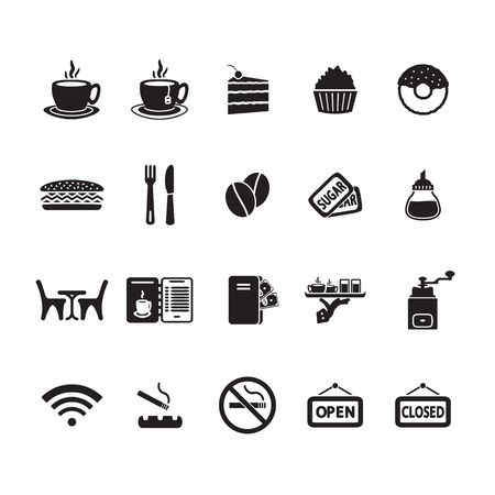 Cafe icons set Stock fotó - 45856311