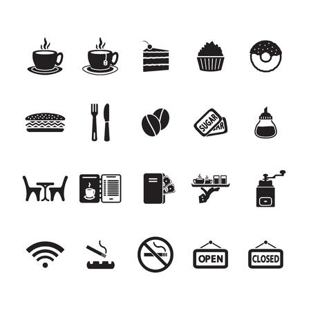molinillo: Iconos fijaron el café Vectores