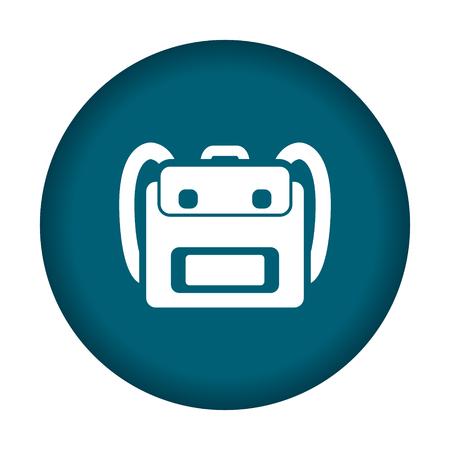 schoolbag: Schoolbag icon. Vector illustration eps 10.