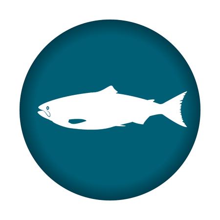 poisoned: Salmon illustration icon. Vector illustration eps 10. Illustration