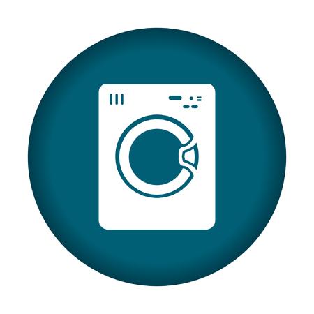 washhouse: Washing machine icon. Vector illustration eps 10. Illustration