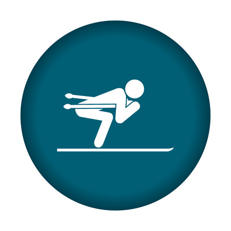 Ski icon. Vector illustration eps 10. Illustration