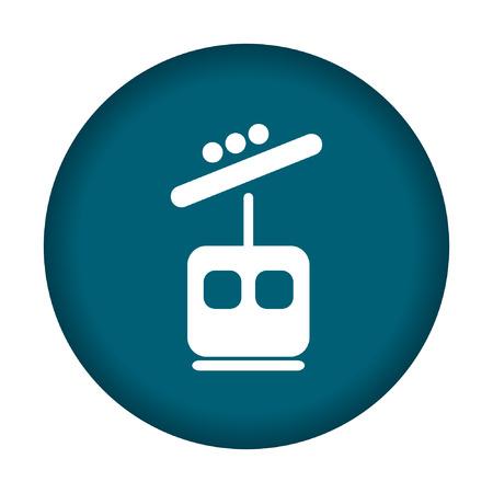 rope way: Ski lift icon. Vector illustration eps 10.