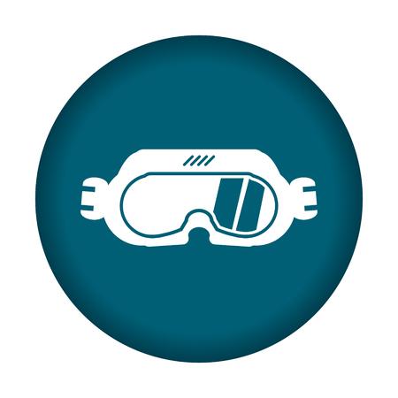 action sports: Ski googles icon