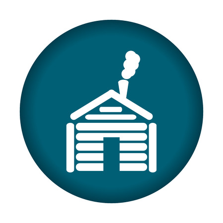 abode: Cottage home icon. Vector illustration eps 10.