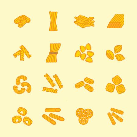 set Pasta tipi icona. Eps vettoriale 10.
