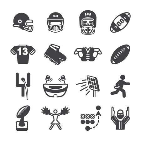 snickers: American football icon set. Vector eps10.
