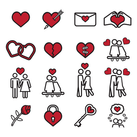 vector eps10: Love icon set. Vector eps10. Illustration
