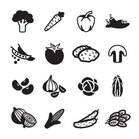 cebolla: Verduras icono. Eps 10.