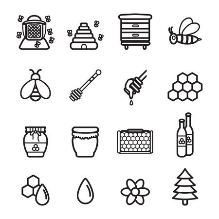 mead: Honey icons set. Vector eps 10. Illustration