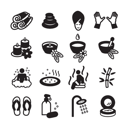 papering: Spa icons set. Vector eps 10.