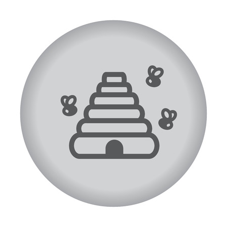 pollinate: Beehive icon. Vector eps 10. Illustration