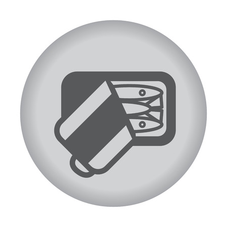 eps vector icon: Canned sardine icon. Vector eps 10.