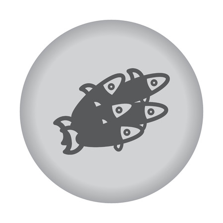 pilchard: Small fish icon. Vector eps 10. Illustration