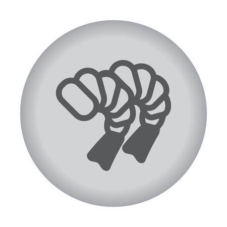 krill: Shrimp icon. Vector eps 10. Illustration