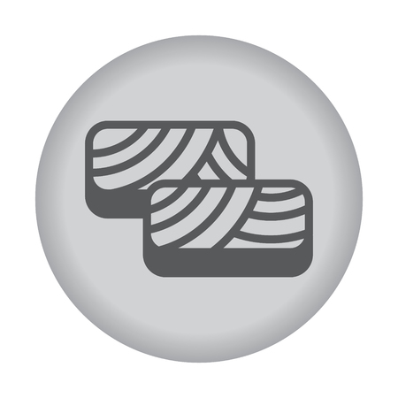fillet: Fish fillet icon. Vector eps 10. Illustration