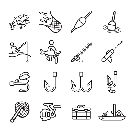 nets: Fishing icons set.