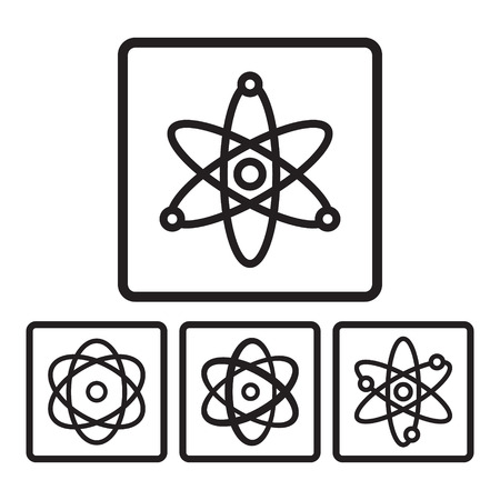 photon: Atom icon in four variations. Vector eps 10.