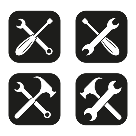 rectify: Tools icon in four variations Illustration