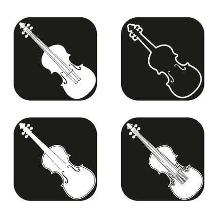 stradivarius: Violin icon in four variations
