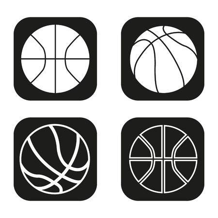 basketballs: Vector basketballs set