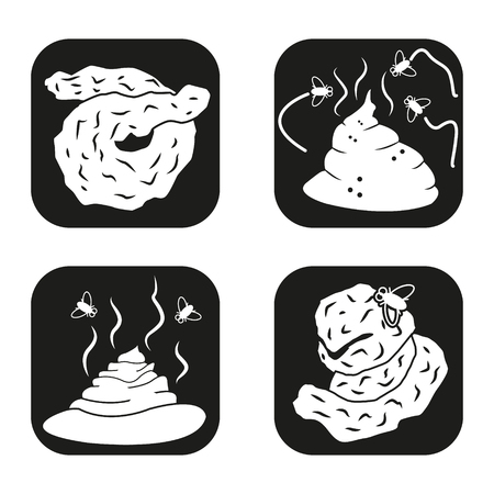 hum: Shit icon in four variations
