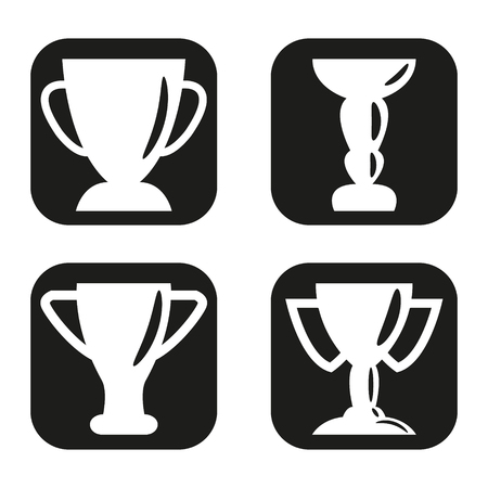 Trophy icon in four variations