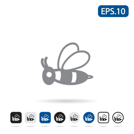 insect flies: Honey bee icon. Vector eps 10.