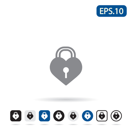 knickknack: Love lock icon. Vector illustration eps 10.