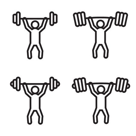 press: Weightlifting snatch or clean icon in four variations.