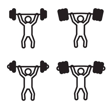 snatch: Weightlifting snatch or clean icon in four variations.