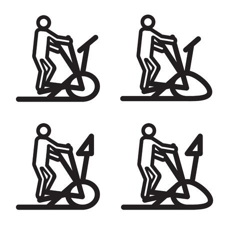 cardio: Elliptical cardio trainer icon. V Illustration