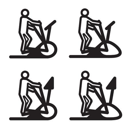 eliptica: El�ptica entrenador icono de cardio.