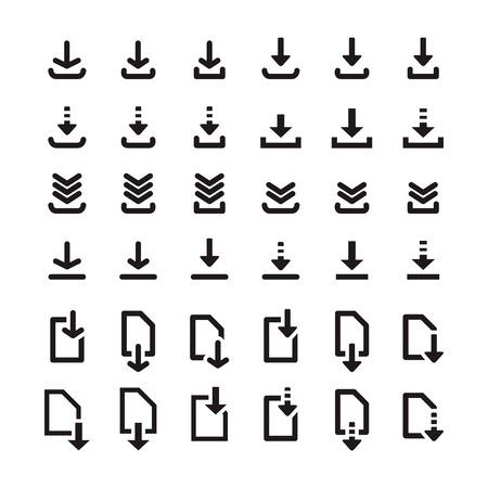 Download-Icon-Set Standard-Bild - 63130740