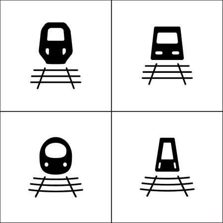Kugel-Zug oder Zug-Symbol in vier Varianten Standard-Bild - 63130738