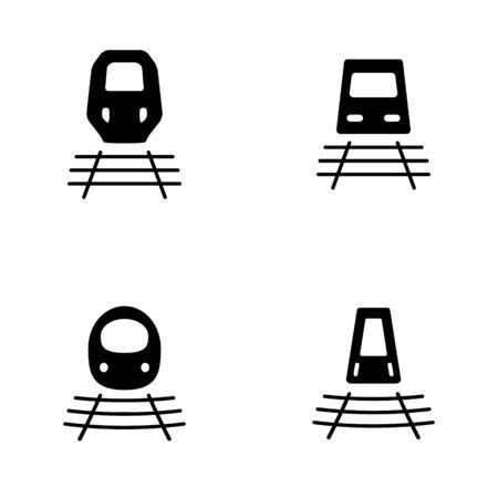 Kugel-Zug oder Zug-Symbol in vier Varianten Standard-Bild - 63130741