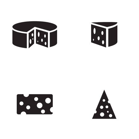 appetizers: Cheese icon in four variations Illustration