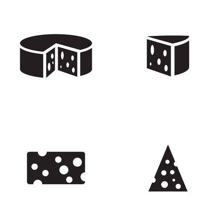 Käse-Symbol in vier Varianten Standard-Bild - 63130743