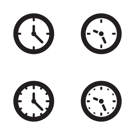 Clock icon in four variations