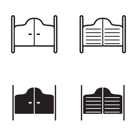 Saloon Tür-Symbol in vier Varianten Standard-Bild - 63130758
