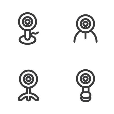 Webcam-Symbol in vier Varianten Standard-Bild - 63130754